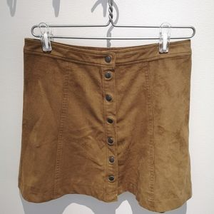 Abercrombie & Fitch suede skirt